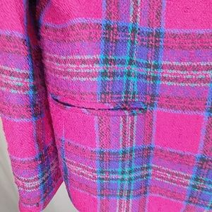 Talbots Jackets & Coats - Talbots Wool Plaid Button Blazer Lined w/ Pockets